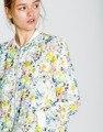 Za 2016 Лето Осень Женской Моды Пальто Случайные Дамы Светлый Цвет Печати Куртки Chaquetas Mujer E284