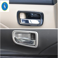 Yimaautotrims Auto Accessory Inner Car Door Pull Doorknob Handle Bowl Frame Cover Trim Fit For Mitsubishi Outlander 2014 - 2019
