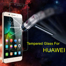 Tempered Glass Screen Protector For Huawei P9 P8 Lite 2016 Y3 Y5 Y6 2017 Y3II Y5II III Y6 Pro Honor 6A 6C 4C Pro 5A GLAS Cover(China)