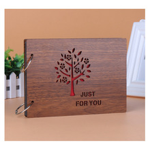 DIY Wood Cover Photo Album Scrapbooking Artifact Loose-leaf Pasted photos Albums Baby Lovers Traveller Photo Memory scrapbook