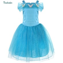 3 4 5 6 7 8 9 10 Years Girls Princess Dresses Halloween Cosplay Sleeping Beauty Christmas Costume Party Children Kids Clothing european children clothing lace dresses girls new 2017 summer kids party frocks for girls 2 3 4 5 to 6 7 8 9 10 11 12 years