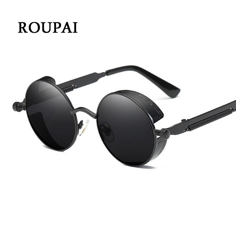 ROUPAI 2018 Steampunk окуляри сонцезахисні - Аксесуари для одягу