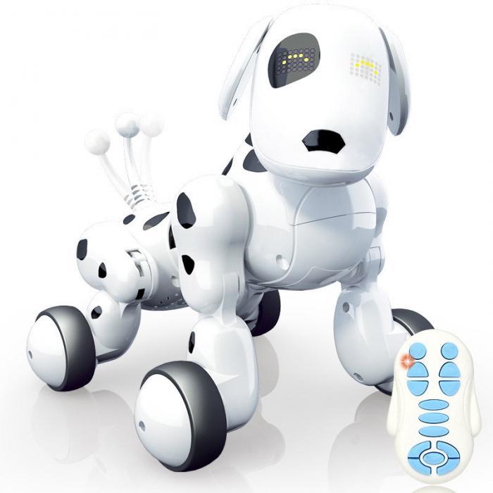 Rc robô inteligente cão elétrico de controle