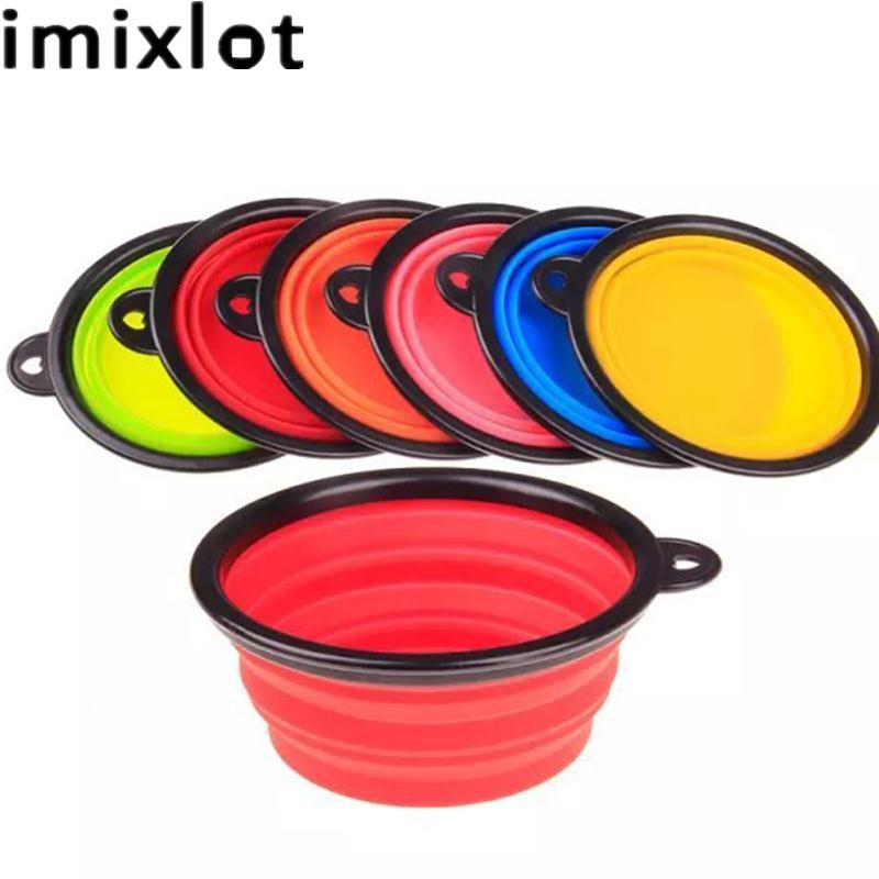 Imixlot prenosni lahki krožnik Hrana za pse hišnih pijač - Organizacija doma