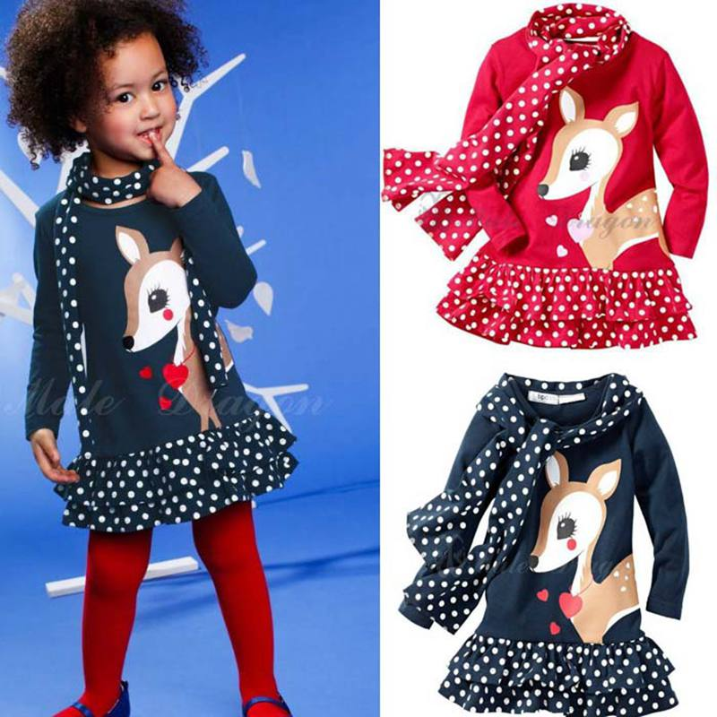 Cute Deer Christmas Costumes for Kids Clothes Sets Girl's ...