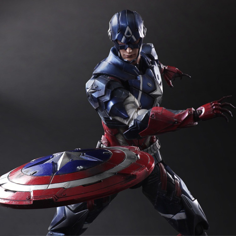 27cm Captain America Avengers Action Figure  Super Hero Toy with Color Box Christmas Gift new hot 22cm avengers super hero hulk movable action figure toys christmas gift doll with box