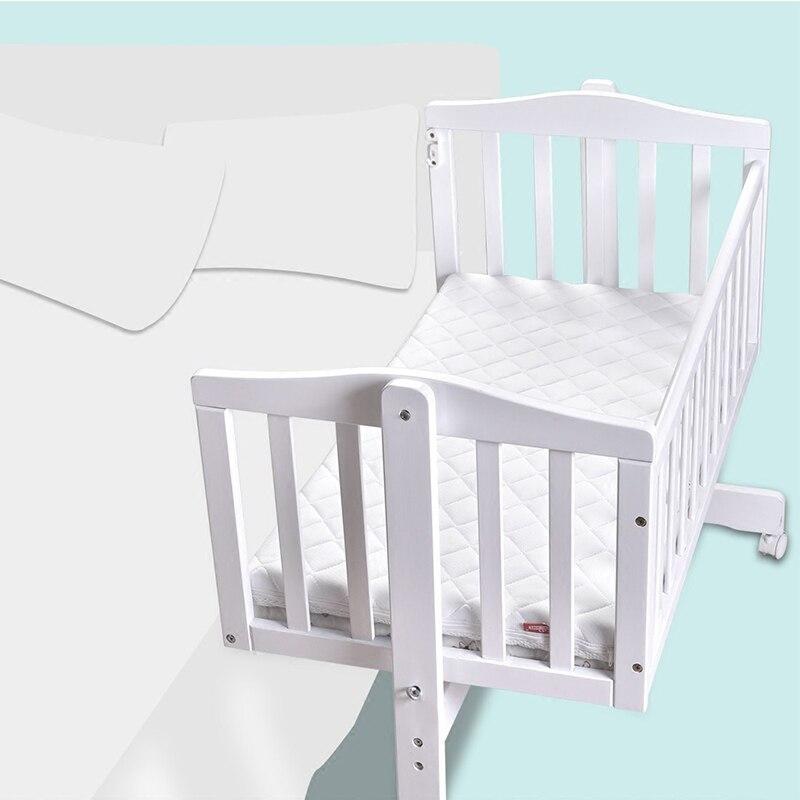 Berceau européen en bois massif bébé shaker nouveau-né berceau lit multi-fonction BB lit avec moustiquaire - 2