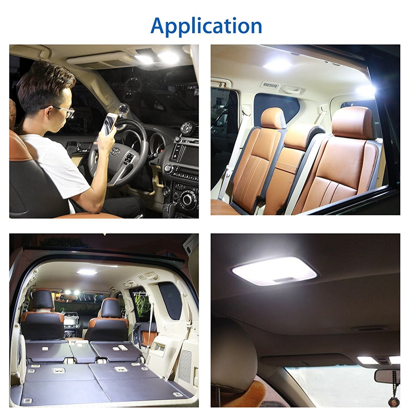 SITAILE Universal 12V LED Car Reading Lights Interior Lights Ceiling Dome Roof Lamp Trunk light 36SMD On Off Switch in Signal Lamp from Automobiles Motorcycles