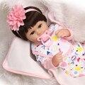 Bebês Reborn Bonecas de Silicone Macio de 18 polegadas 42 cm Magnético Adorável Lifelike Bonito Da Menina do Menino Brinquedo de presente bonecas bebe reborn