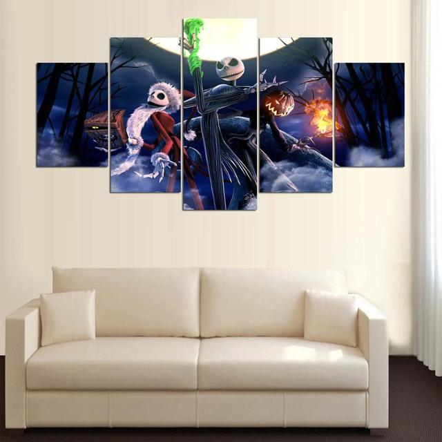Modular Wall Art Pictures Canvas HD Printed Poster Halloween Home ...