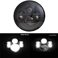 1PC 7'' Round Projector LED Headlight with Hi Lo Beam for Road King, Road Glide, Street Glide and Electra Glide