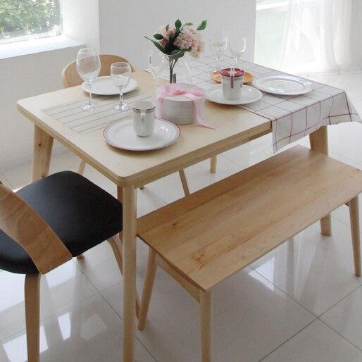 Corea pura madera maciza mesa de comedor mesa giratoria estilo ...