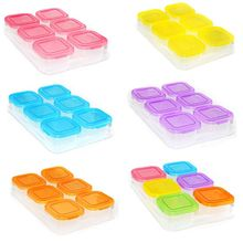 Colorful Six Lattice Children Baby Small Storage Box Supplement Snack Portable Independent Food Container