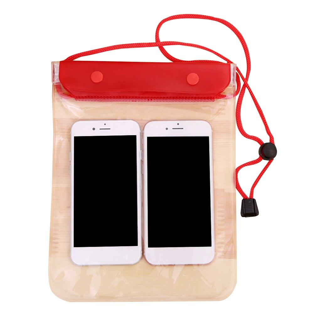Underwater Swimming Large Phone Holder Sealing Waterproof Bag Diving Storage Cover Case Transparent PVC Beach With Lanyard
