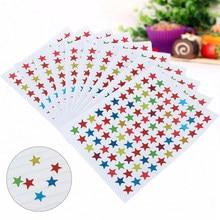 10 folhas estrela forma adesivos etiquetas para a escola crianças bonito professor recompensa adesivo presente do jardim de infância criança mão corpo adesivo brinquedo