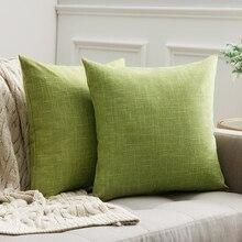 Fundas de cojín lumbar decorativas, Fundas de cojín de lino estilo granja, fundas de almohada de decoración Vintage para sofá