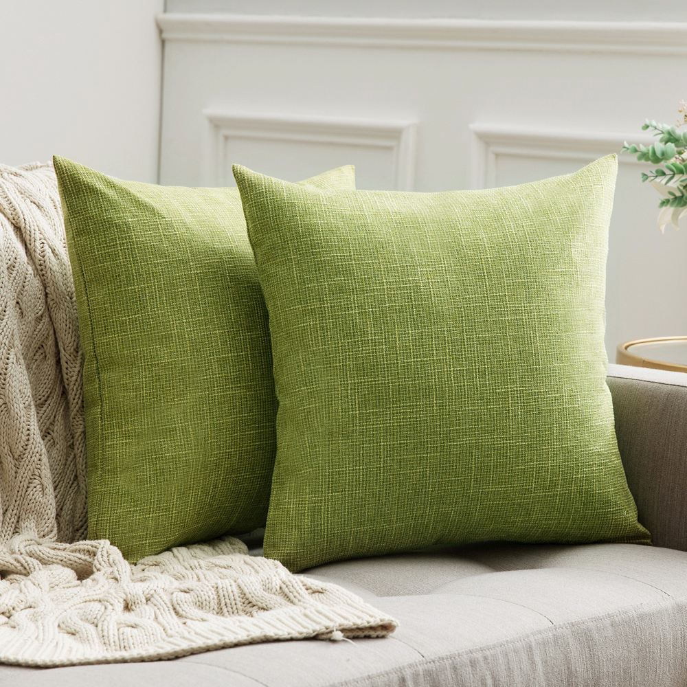 >Decorative Lumbar Throw Pillow Covers <font><b>Farmhouse</b></font> <font><b>Style</b></font> Linen Cushion Cases Vintage Decor Pillow Cases for Couch Sofa