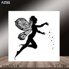 AZSG Flower Fairy Clear Stamps/Stamp/For Scrapooking/Card Making/Silicone Stamps/Decoration  Crafts