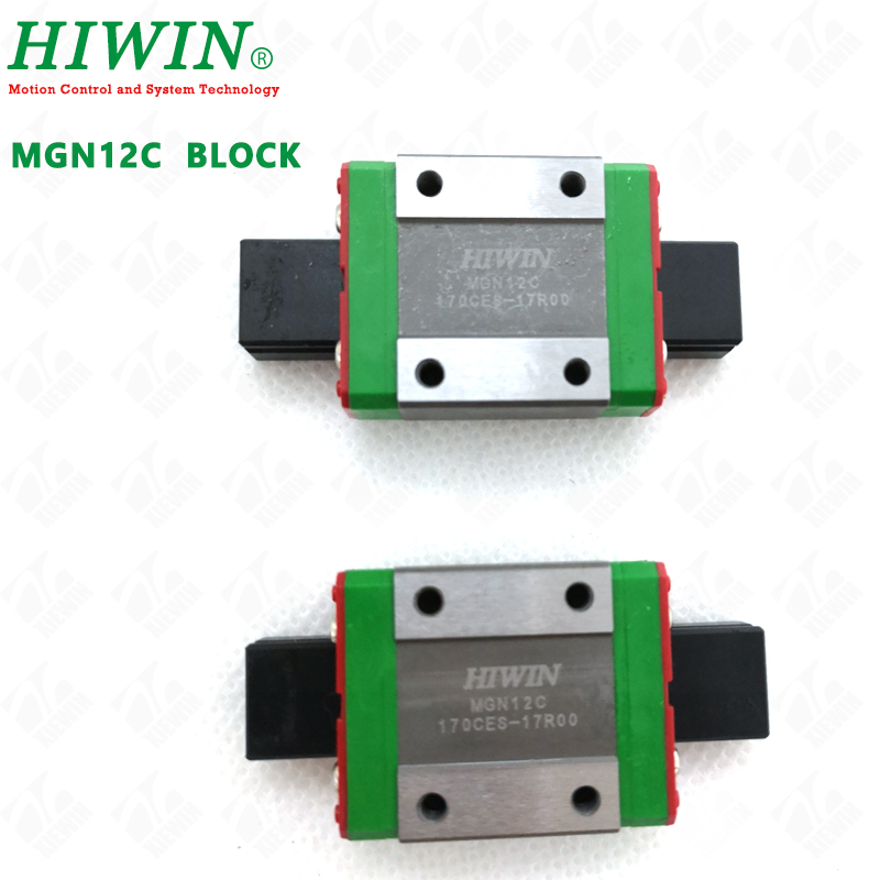HIWIN MGN12 Linear Rail Guide 3D printer Carriage Block Slider for CNC