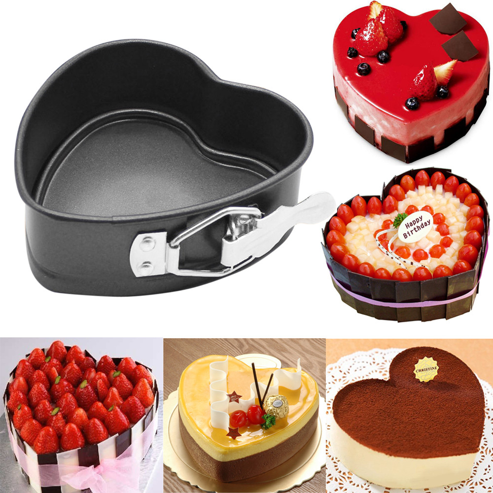 2018 New Fashion Heart-Shaped Cake Tin Non Stick Spring Form Loose Base Baking Pan Tray Wth High Quality Hot Sale For Kicthen#35