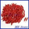 35mm Metal Electric Alligator Clips Test Leads Red Silver Tone 200 Pcs