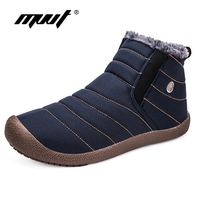 MVVT Super warm ผู้ชายฤดูหนาวรองเท้า Unisex คุณภาพสูงรองเท้าบูทสำหรับผู้ชายกันน้ำอุ่นฤดูหนาวรองเท้าผู้ชายข้อเท้ารองเท้าขนสัตว์