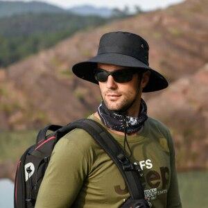 Chapéu de pescador Chapéu De Pesca Balde Chapéu Bob Carga Balde Sol Retro Mens Caminhada pela Floresta Gorra Кепка