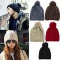 Hot Fashion Winter Warm Women's Men's Knit Ski Beanie Ball Wool Cuff Hat Ski Cap 7ESK
