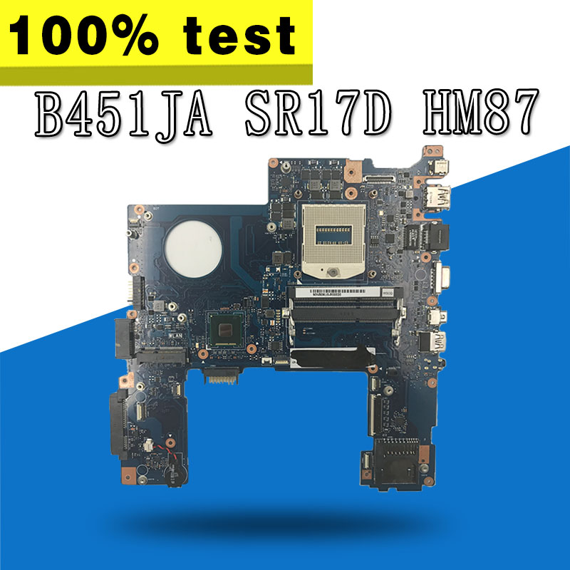 B451JA Motherboard R17D HM87 DDR3L For ASUS B451J B451JA Laptop motherboard B451JA Mainboard B451JA Motherboard test 100% OK стоимость