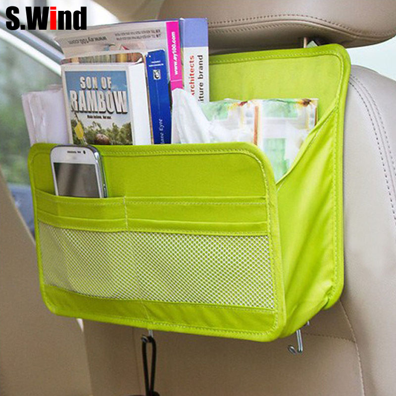 car organizer auto seat back storage bag multi functional travel organizer pocket bag hanging. Black Bedroom Furniture Sets. Home Design Ideas