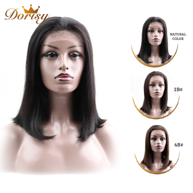 Image 4 - Human Hair Wigs 13×2 Lace Short Bob Wig Brazilian Straight Hair Natural Color 2# 4# Lace Wig For Black Women Non Remy Hair-in Lace Front Wigs from Hair Extensions & Wigs