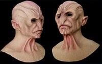 ALIEN-1 crossdress fancydress maskeli cosplay Cadılar Bayramı gerçekçi yüz silikon erkek tam kafa için alien maske feish giymek