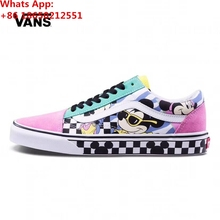 New VANSES X DISNEYS Old Skool Mickey Mouse 90th Collection Unisex Sneakers  - Pink(China 02ec983e1a68