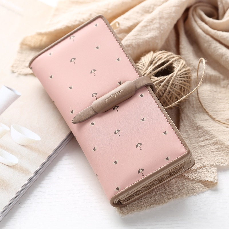 Prettyzys Fashion Lady Clutch Standard Wallet PU Leather Long Card Holder Women Wallet Cute purse Coin Pocket Mini Money bag