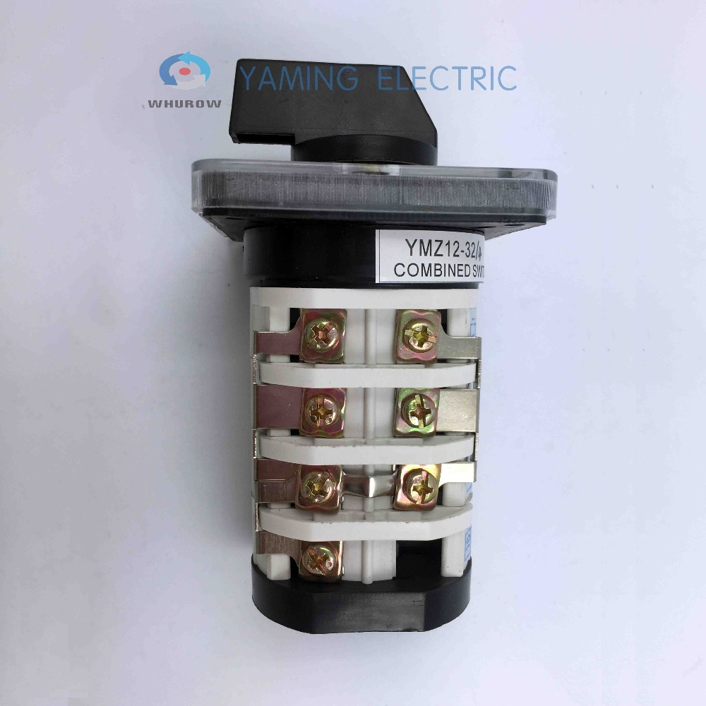 Yaming electric rotary changeover cam switch 4 phases 0 7 position 32A 690V interruptores Manufacturer YMZ12 32 4 in Switches from Lights Lighting