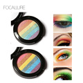 FOCALLURE Rainbow eyeshadow Highlighter Face Brightener Bronzer Contour Kits Shimmer Glow Kit Powder Highlighter DIY Rainbow