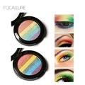Focallure rainbow sombra de ojos iluminador rostro abrillantador kits de bronzer contour shimmer glow kit polvo highlighter diy arco iris