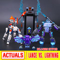 Lepin 14026 nexus knights building blocks set lanza vs aligeramiento niños juguetes de los ladrillos de regalo compatible 70359