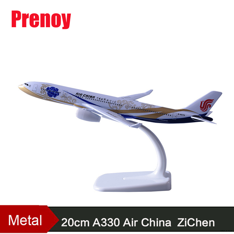 20cm A330 Air China Purple Chen Aircraft Model B6076 Airplane Chinese A330 Interational Aeronautical Alloy Model Creative Gift ...