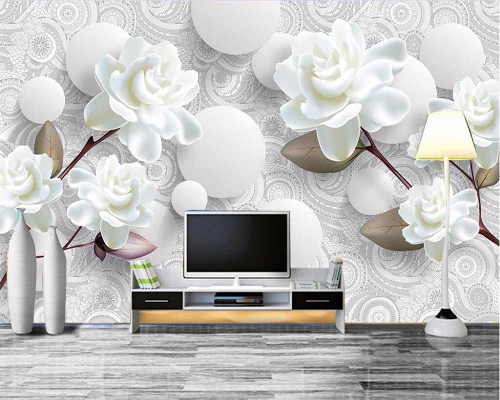 Beibehang пользовательские обои 3D фото фрески трехмерный минималистский цветок фон стены гостиной спальни 3d обои
