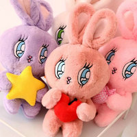 new style toy 40cm Cartoon big eyes rabbit plush toys Cute rabbit doll stuffed plush animals birthday gift new style purple/pink