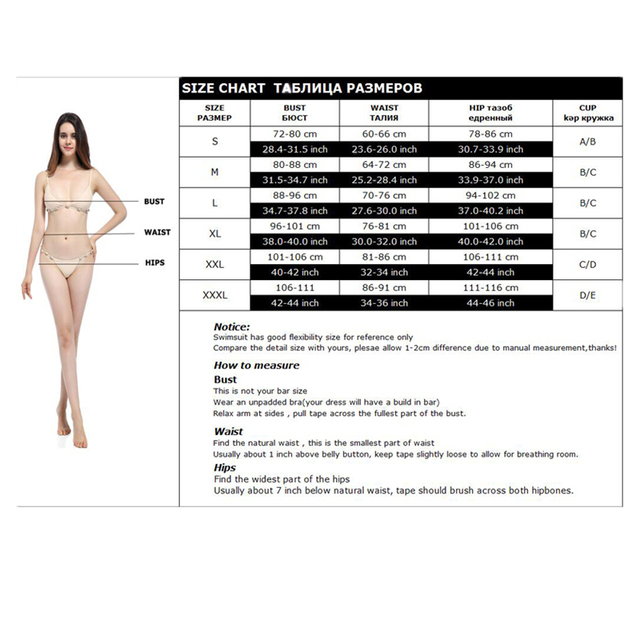 Bikini 2017 New Swimwear Women Sexy Push Up Bikinis Set Swimsuit Maillot De Bain Woman Swimwears Bathing Suit BJ189 5