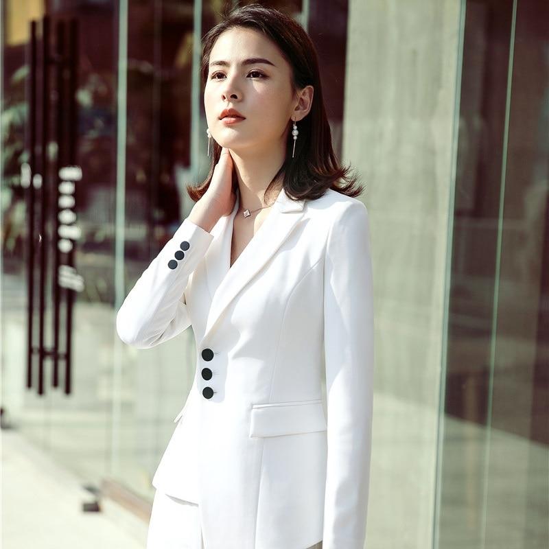 2018 Spring Summer Elegant Green Blazers & Jackets Coat For Women Female Tops Outwear Clothes Uniform Styles Blaser Plus Size Women's Clothing