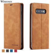 Luxury Leather Flip Case for Samsung Galaxy S10 S9 S8 Plus S10e Note 9 10 + A6 A7 A8 2018 Card Holder Magnet Wallet Book Cover
