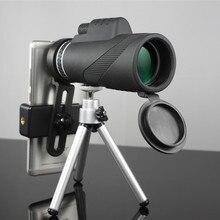 أحادي العين 40x60 التكبير HD المهنية مناظير تلسكوب للرؤية الليلية العسكرية Spyglass مع حامل هاتف ترايبود الصيد Turizm