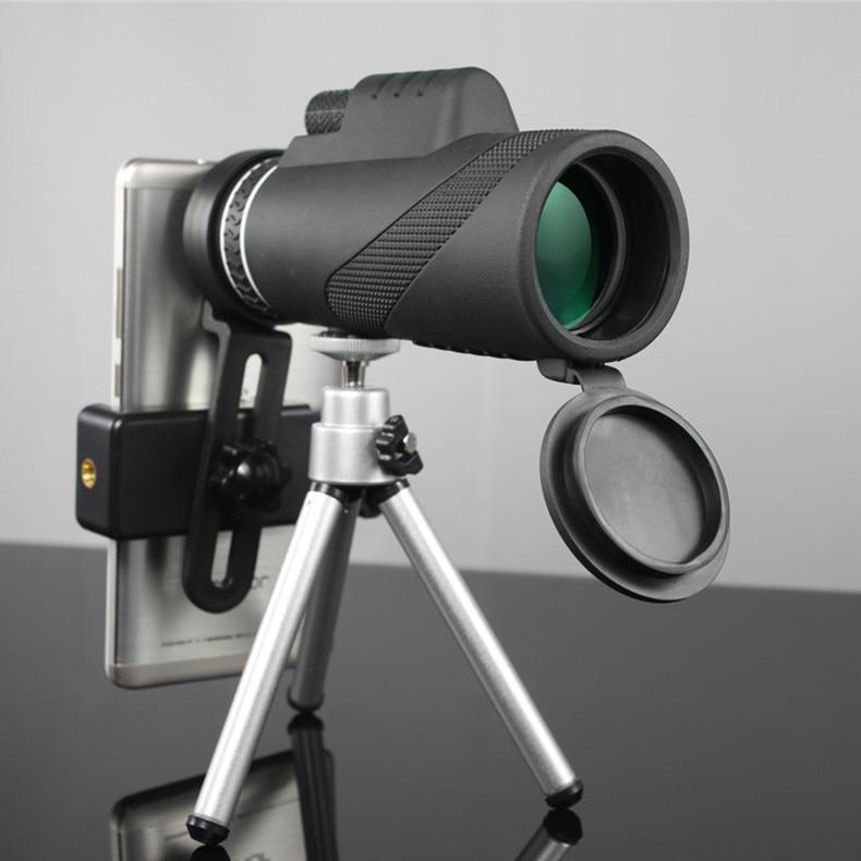 Monocular 40x60 Zoom HD Professional Binoculars Telescope night vision Military Spyglass with Phone Holder Tripod Hunting Turizm-in Monocular/Binoculars from Sports & Entertainment