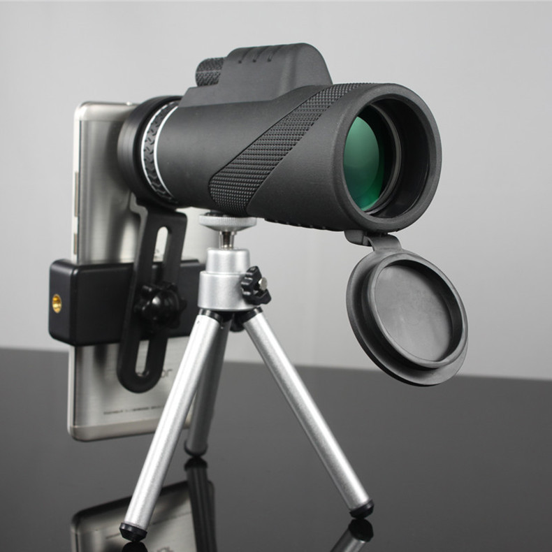 Monokulare 40x60 Zoom HD Professionelle Fernglas Teleskop nachtsicht Military Spyglass mit Telefon Halter Stativ Jagd Turizm