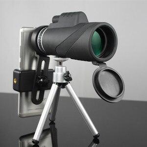 Image 1 - Monokulare 40x60 Zoom HD Professionelle Fernglas Teleskop nachtsicht Military Spyglass mit Telefon Halter Stativ Jagd Turizm