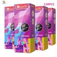 Mio 120 шт. 4 коробки презервативы для мужчин натуральный латекс Contex секс-игрушки спираль шипованные презервативы Секс-магазин презерватив опт...