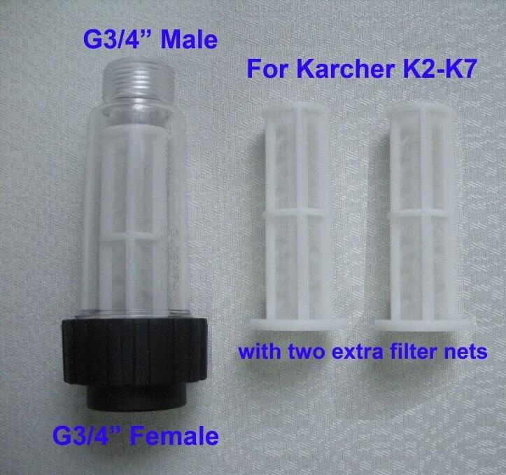 Wasserfilter fit Karcher K2-K7 hochdruckreiniger 1 stück mit zwei auch für Lavor Elitech Champion